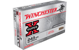 Winchester Ammo X2431 Super-X 243 Winchester 80 GR Pointed Soft Point - 20rd Box
