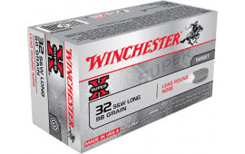 Winchester Ammo X32SWLP Super-X 32 Smith & Wesson Long 98 GR Lead Round Nose - 50rd Box