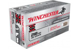 Winchester Ammo X218B Super-X 218 Winchester Bee 46 GR Hollow Point - 50rd Box