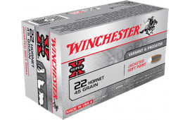 Winchester Ammo X22H1 Super-X 22 Hornet 45 GR Soft Point - 50rd Box
