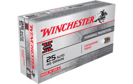 Winchester Ammo X25AXP Super-X 25 ACP 45 GR Expanding Point - 50rd Box