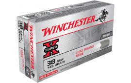 Winchester Ammo X38SWP Super-X 38 Smith & Wesson (S&W) 145 GR Lead Round Nose - 50rd Box
