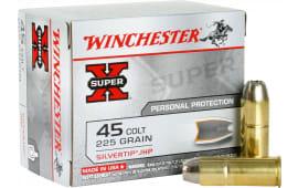 Winchester Ammo X45CSHP2 Super-X 45 Colt (LC) 225 GR Silvertip HP - 20rd Box
