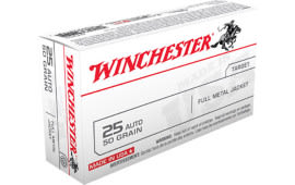 Winchester Ammo Q4203 Best Value 25 ACP 50 GR Full Metal Jacket - 50rd Box