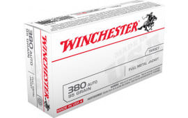 Winchester Ammo Q4206 Best Value 380 ACP 95 GR Full Metal Jacket - 50rd Box
