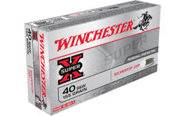 Winchester X40SWSTHP Siver Tip Super-X 40 Smith & Wesson 155 GR Silvertip HP Ammo - 500rd Case