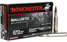 Winchester Ammo SBST270 Supreme 270 Winchester 130 GR Ballistic Silvertip - 20rd Box