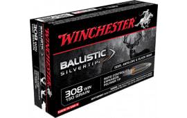 Winchester Ammo SBST308 Supreme 308 Winchester/7.62 NATO 150 GR Ballistic Silvertip - 20rd Box