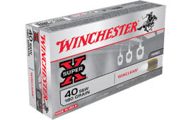 Winchester Ammo WC402 WinClean 40 Smith & Wesson 180 GR Brass Enclosed Base - 50rd Box