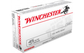 Winchester Ammo USA45A Best Value 45 ACP 185 GR Full Metal Jacket - 50rd Box