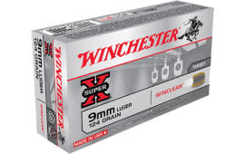 Winchester Ammo WC92 WinClean 9mm Luger 124 GR Brass Enclosed Base - 50rd Box