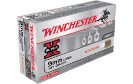 Winchester Ammo WC93 WinClean 9mm Luger 147  GR Brass Enclosed Base - 50rd Box