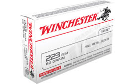 Winchester Ammo USA223R3 Best Value .223/5.56 NATO 62 GR Full Metal Jacket - 20rd Box
