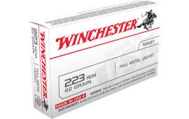 Winchester Ammo USA223R3 Best Value, Case, .223/5.56 NATO 62 GR Full Metal Jacket - 1000 Round Case