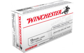 Winchester Ammo USA9JHP2 Best Value 9mm Luger 147 GR Jacketed Hollow Point - 50rd Box