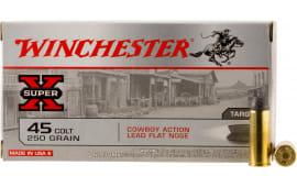 Winchester Ammo USA45CB Super-X 45 Colt (LC) 250 GR Lead - 50rd Box