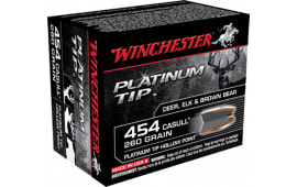 Winchester Ammo S454PTHP Supreme 454 Casull 260 GR Platinum Tip Hollow Point - 20rd Box