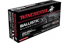 Winchester Ammo SBST22250B Supreme 22-250 Remington 55 GR Ballistic Silvertip - 20rd Box