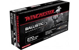 Winchester Ammo SBST2705A Supreme 270 Winchester Short Magnum 150 GR Ballistic Silvertip - 20rd Box
