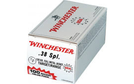 Winchester Ammo USA38SPVP Best Value 38 Special 130 GR Full Metal Jacket - 100rd Box