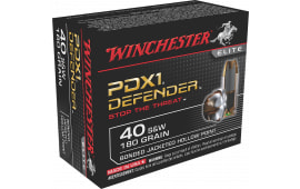 Winchester Ammo S40SWPDB1 Elite 40 Smith & Wesson 180 GR Bonded Jacket Hollow Point - 20rd Box