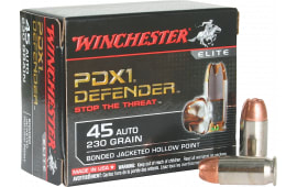 Winchester Ammo S45PDB Elite 45 ACP 230 GR Bonded Jacket Hollow Point - 20rd Box