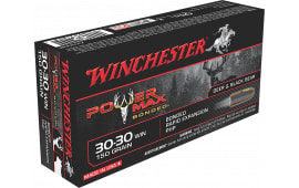 Winchester Ammo X30306BP Super-X 30-30 Win 150 GR Power Max Bonded - 20rd Box