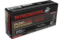 Winchester Ammo S223RPDB Elite .223/5.56 NATO 60 GR Split Core Jacketed Hollow Point - 20rd Box