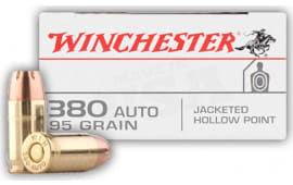 Winchester Ammo USA380JHP Best Value 380 ACP 95 GR Jacketed Hollow Point - 50rd Box