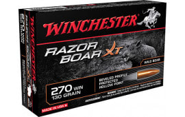 Winchester Ammo S270WB Razorback XT 270 Winchester Hollow Point 130 GR - 20rd Box