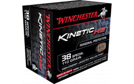 Winchester Ammo HE38JHP Kinetic High Energy 38 Special 110 GR Jacketed Hollow Point - 20rd Box