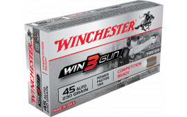 Winchester Ammo X45TG Win3Gun 45 ACP 230 GR Jacketed Flat Point - 50rd Box