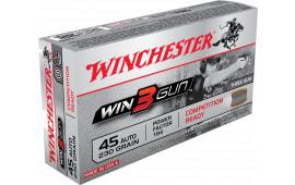 Winchester Ammo X45TG Win3Gun 45 ACP 230 GR Jacketed Flat Point - 50rd Box