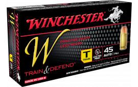 Winchester Ammo W45T W Train & Defend 45 ACP 230 GR Full Metal Jacket - 50rd Box