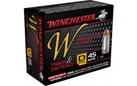 Winchester Ammo W45D W 45 ACP 230 GR Jacketed Hollow Point - 20rd Box