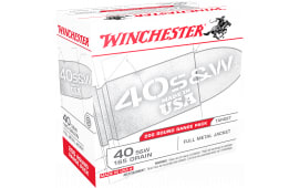 Winchester Ammo USA40W USA Centerfire 40 Smith & Wesson (S&W) 165 GR Full Metal Jacket - 200rd Box
