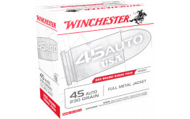 Winchester Ammo USA45W USA Centerfire 45 ACP 230 GR Full Metal Jacket - 200rd Box