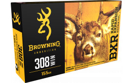 Browning Ammo B192103081 BXR Rapid Expansion 308 Win/7.62 NATO 155 GR Matrix Tip - 20rd Box