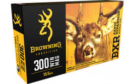 Browning Ammo B192103001 BXR Rapid Expansion 300 Win Mag 155 GR Matrix Tip - 20rd Box