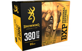 Browning Ammo B191703801 BXP X-Point 380 ACP 95 GR HP - 20rd Box