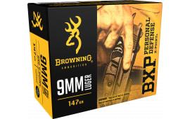 Browning Ammo B191700091 BPX X-Point 9mm Luger 147 GR HP - 20rd Box