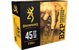 Browning Ammo B191700451 BXP X-Point 45 ACP 230 GR HP - 20rd Box