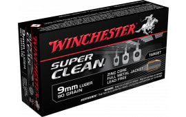 Winchester Ammo W9MMLF Super Clean 9mm Luger 90 GR Full Metal Jacket - 50rd Box