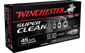 Winchester Ammo W45LF Super Clean 45 ACP 165 GR FMJ - 50rd Box