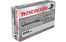 Winchester Ammo X243PLF Varmint X 243 Winchester 50 GR Lead-Free - 20rd Box
