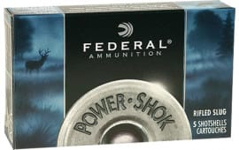 "Federal F131RS Power-Shok 12GA 3"" 1-1/4oz Slug Shot - 5sh Box"