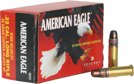 Federal AE22 Standard 22 LR Copper Plated Hollow Point 38 GR - 40rd Box