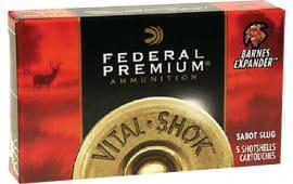 """Federal PB127RS Vital-Shok 12GA 2.75"""" 1oz Slug Shot - 5sh Box"""