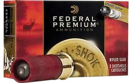 """Federal PB131RS Vital-Shok Truball HP Rifled Slug 12GA 3"""" 1oz Slug Shot - 5sh Box"""