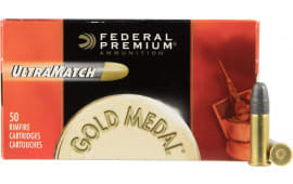 Federal UM22 Gold Medal Ultra Match 22 Long Rifle (LR) 40  GR Lead Round Nose - 50rd Box